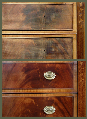 Etonnant Furniture Restoration. Mahogany Drawer